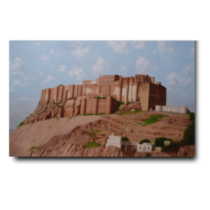 mehrangarh fort oil painting-Mehrangarh Fort | 24x36 | Oil On Canvas Artwork