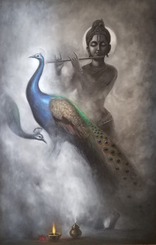 Fumes Of Purity | Oil Painting By Hari Om Singh