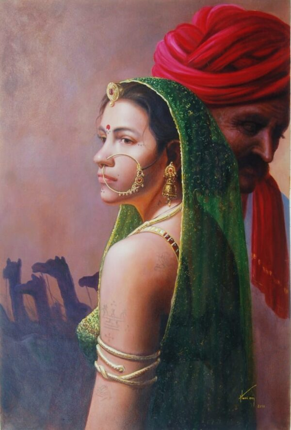 Hope – To See You Soon | Oil Painting By Hari Om Singh