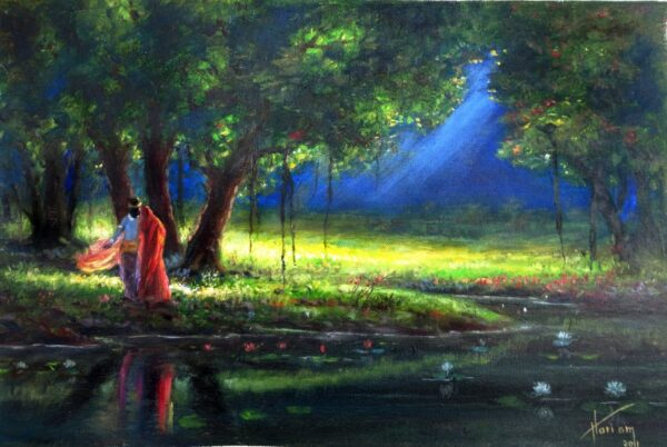 Midnight Love | Oil Painting By Hari Om Singh