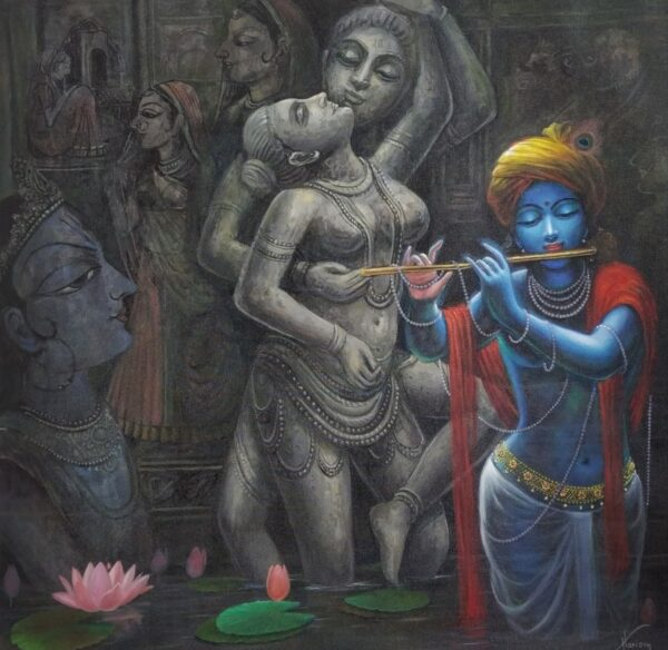 Power Of The Perfect Affection | Oil Painting By Hari Om Singh