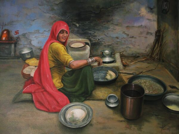 Richness Of The Simplicity | Oil Painting By Hari Om Singh