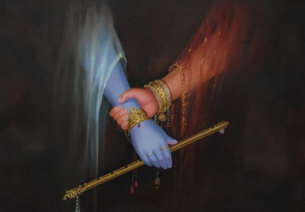 Shivering Of That First Touch | Oil Painting By Hari Om Singh