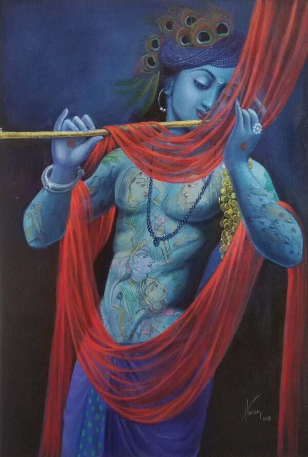 Symbolizing His Love | Oil Painting By Hari Om Singh