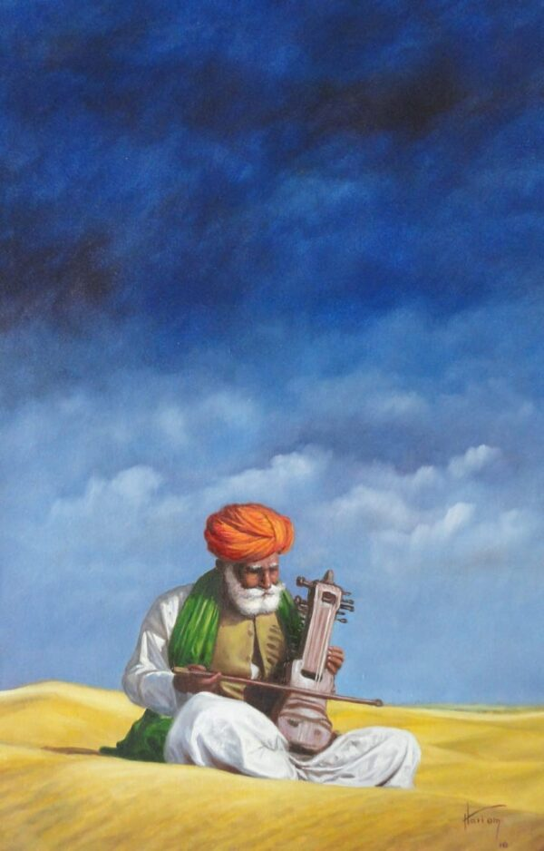 Tales From The Royal Land | Oil Painting By Hari Om Singh