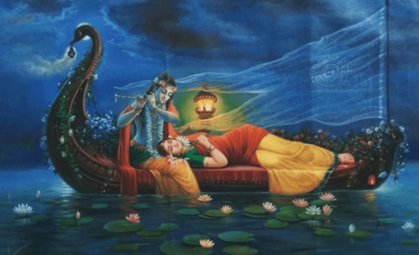 The Royal Sangam - Moments of Togetherness | Oil Painting By Hari Om Singh