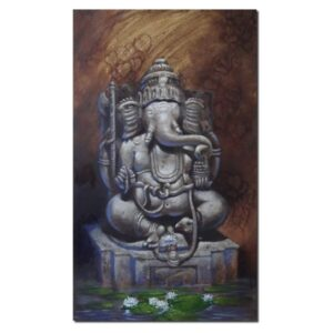 Lord Ganesha (Vol II) | Acrylic Color on Canvas By Atul Gendle