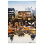 Colors Of India   Watercolor Painting by Ranjeet Singh