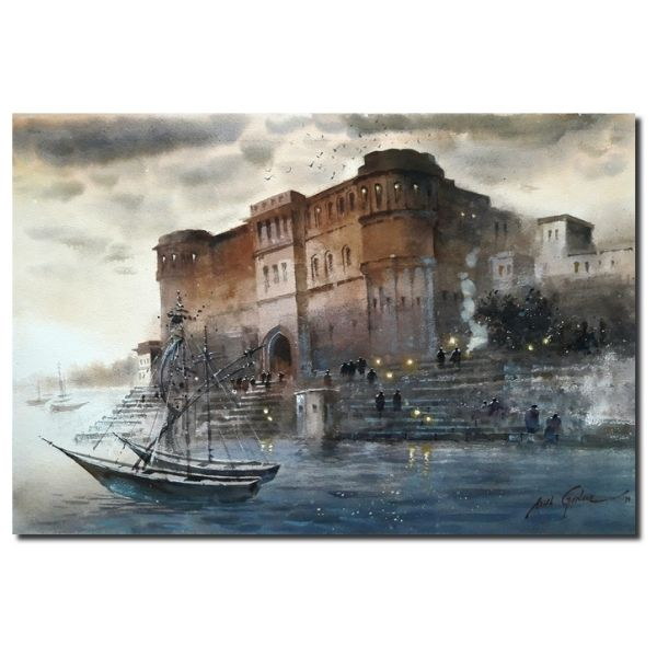 Morning In Banaras | Water Color Painting By Atul Gendle