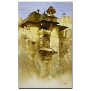 Haveli (Vol II) | Watercolor Painting by Kishor S. Nadavdekar