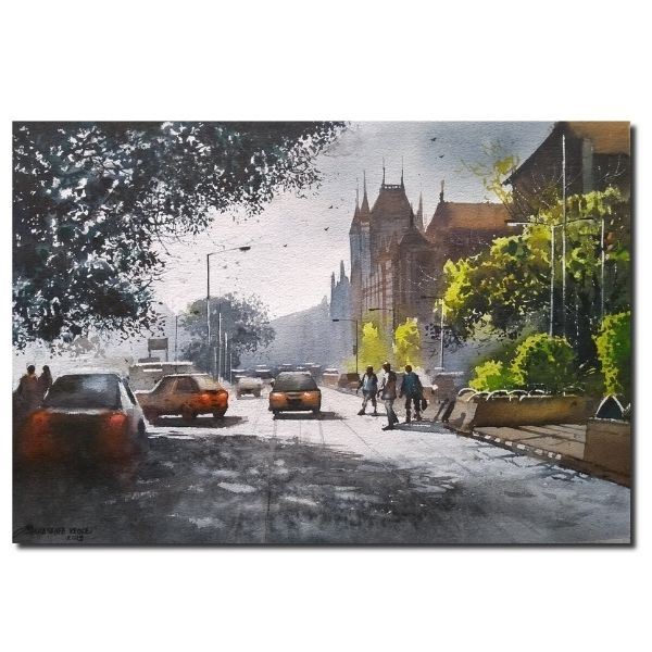 mumbai-vol-iv-watercolor-painting-by-nanasaheb-b-yeole