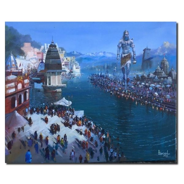 Religious Cityscape | Acrylic Painting by Bijay Biswaal | 30x36
