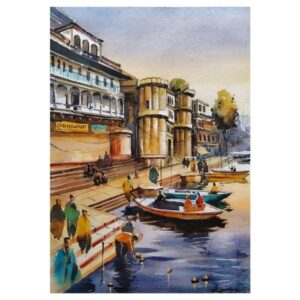 Sham-E-Banaras (Vol II) | Watercolor Painting by Ranjeet Singh | 14×10