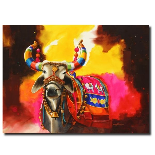 The Nandi (Part XVIII) | Water Color Painting by Mohan S. Jadhav | 60x48