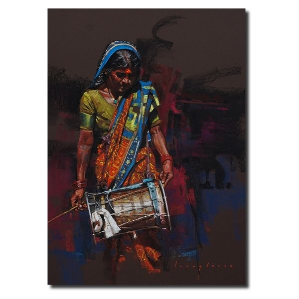 Pastoral Beats   Pastel Painting By Borse Parag Dinesh