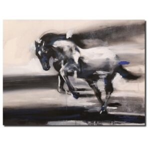 Horse In Motion (Vol IV) | Acrylic Painting by Ananta Mandal | 22×30
