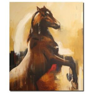 Horse In Motion (Vol VI) | Acrylic Painting by Ananta Mandal | 30×36