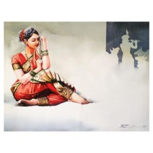 Meera Ji | Watercolor Painting by Ranjeet Singh