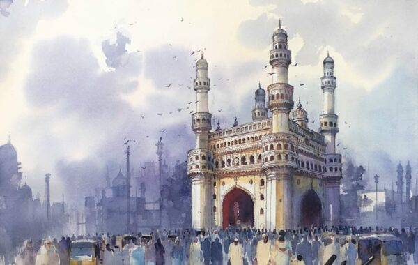 Monument | Watercolor Painting by Bijay Biswaal | 21x28
