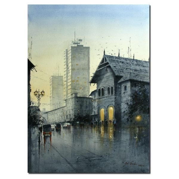Mumbai | Water Color Painting By Atul Gendle