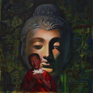Blossoming Into Consciousness   Oil Painting By Borse Parag Dinesh