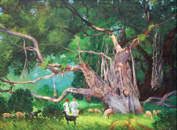 The Joint Tree | Acrylic on Canvas by Deepak R. Patil