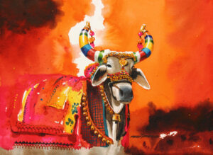 The Nandi (Part I)| Water Color Painting by Mohan S. Jadhav | 14×10