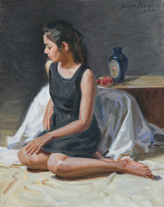 Figurative 1 | Oil Painting by Sanjay Shelar | 18x14