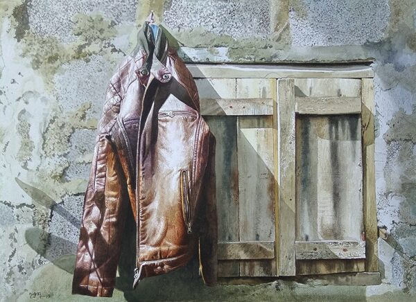 Old Jacket | Watercolor Painting by Raghunath Sahoo | 22 x 28