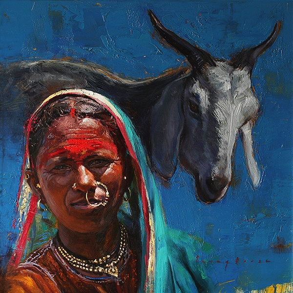 Pastoral Hues | Oil Painting By Borse Parag Dinesh