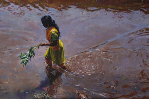 Ripples Of Joy | Oil Painting By Borse Parag Dinesh