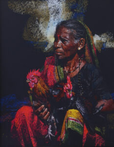 Winged Senility | Pastel Painting By Borse Parag Dinesh