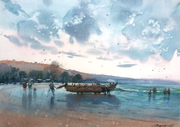 konkan-watercolor-painting-by-nanasaheb-b-yeole