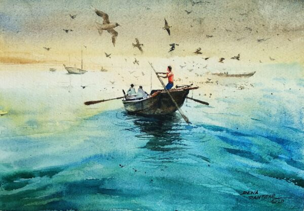 DR 11 | Watercolor On Paper Painting by Dewa Ramteke | 14×11