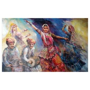 the-rajasthani-folk-dancer-acrylic-on-canvas-painting-by-ranjit-sarkars-40x60