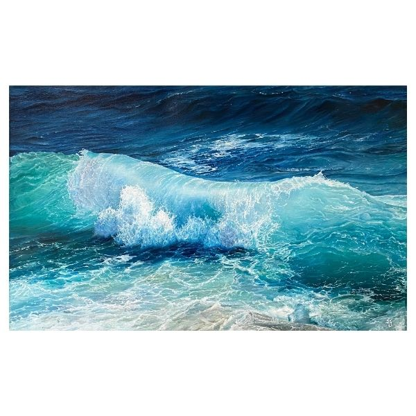 The Wave | Oil Painting by Chikita Patel | 36x24