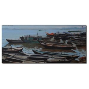 ss-1-boats-oil-on-canvas-painting-by-sachin-sawant-14x30