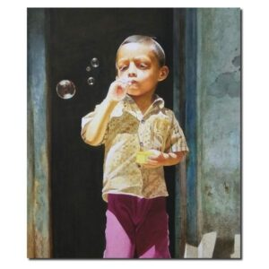 kid-watercolor-painting-by-raghunath-sahoo-22x28