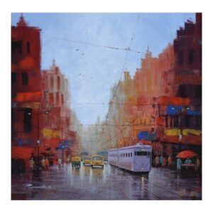 city-of-joy-acrylic-on-canvas-by-purnendu-mandal-24x24