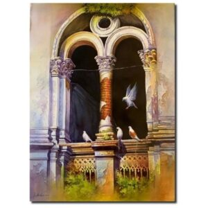 old-heritage-watercolor-on-paper-painting-by-amit-bhar-30x22
