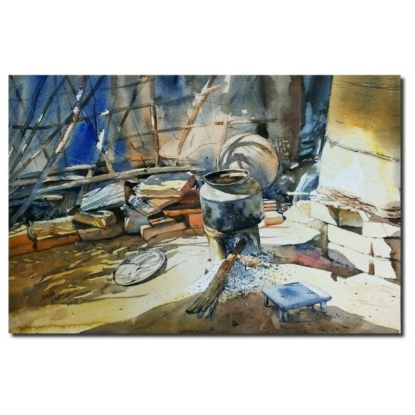 DR 4 | Watercolor On Paper Painting by Dewa Ramteke | 56x38