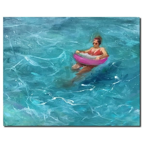swimmer-oil-on-linen-by-surabhi-gulwelkar-16x20