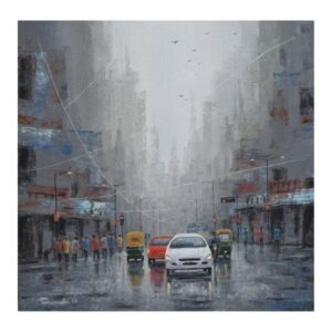 rainy-day-acrylic-on-canvas-by-purnendu-mandal-24x24