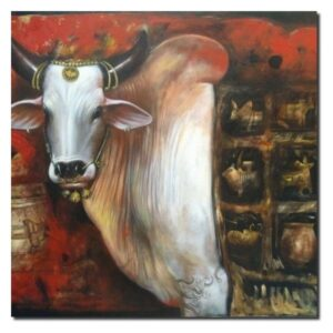 ancient-bull-cows-with-pottery-acrylic-on-canvas-by-jiban-biswas-36x48-2