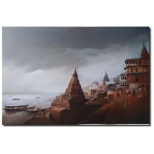 banaras-ghat-5-acrylic-on-canvas-painting-by-amit-bhar-36x24
