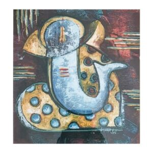 ganesha-iii-oil-on-canvas-paintings-by-vijaya-ved-12x12