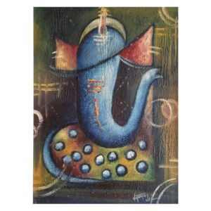 ganesha-i-oil-on-canvas-paintings-by-vijaya-ved-12x15