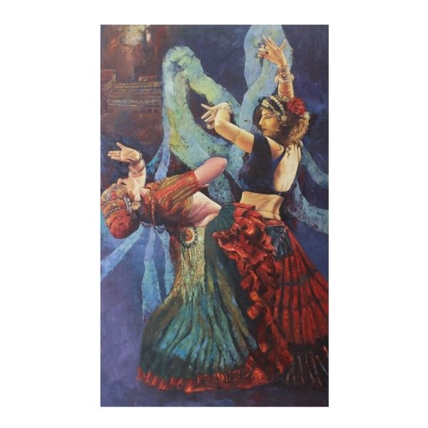 flamenco-i-oil-on-canvas-painting-by-ashis-mondal-36x60