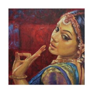 bharatanatyam-vi-oil-on-canvas-painting-by-ashis-mondal-24x24