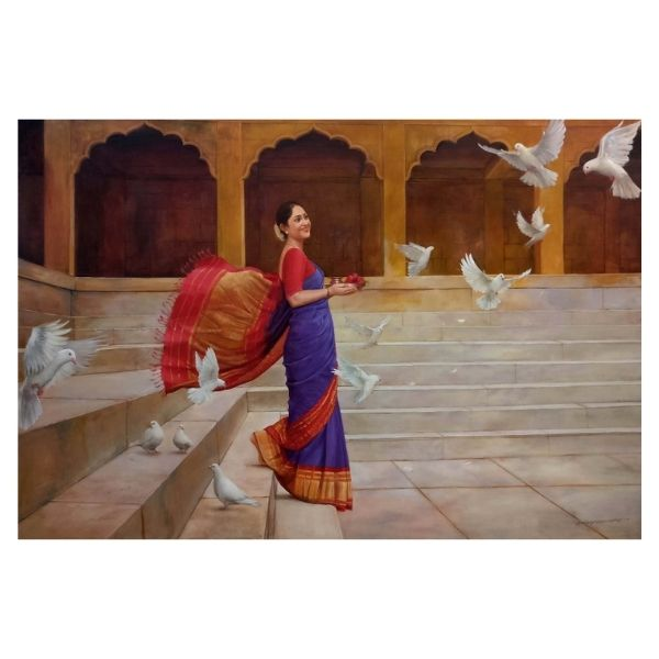 Umang l Oil On Canvas Painting By Ramesh Nannware l 72x48 l